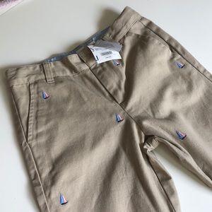 NWT Janie&Jack Sailboat Embroidered Khaki Pants ⛵️